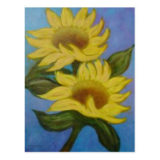 Sunflowers by Laurie Mitchell Postcard