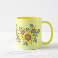 SUNFLOWERS by SHARON SHARPE Mug