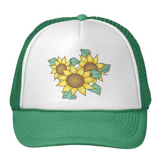 SUNFLOWERS by SHARON SHARPE Trucker Hat