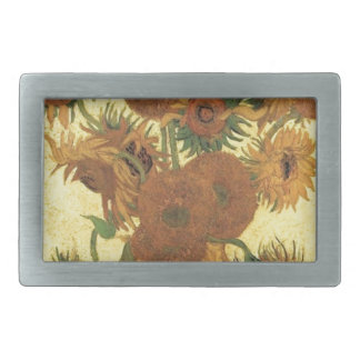 Sunflowers by Van Gogh Rectangular Belt Buckle