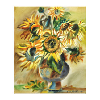 Sunflowers by Vasile Movileanu Gallery Wrapped Canvas