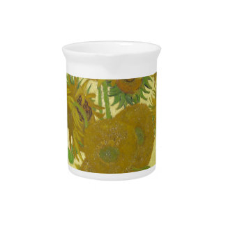 Sunflowers by Vincent van Gogh Beverage Pitcher