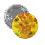 Sunflowers by Vincent van Gogh Buttons
