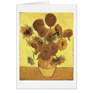 Sunflowers By Vincent Van Gogh Card