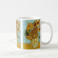 Sunflowers by Vincent Van Gogh Classic White Coffee Mug