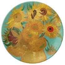 Sunflowers by Vincent Van Gogh Dinner Plate
