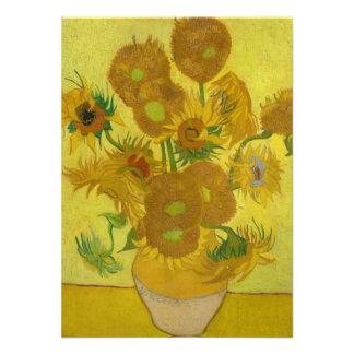 Sunflowers by Vincent van Gogh Custom Invites