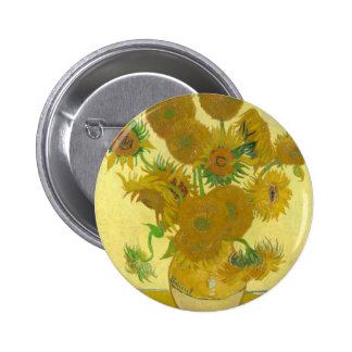 Sunflowers by Vincent van Gogh Pinback Button