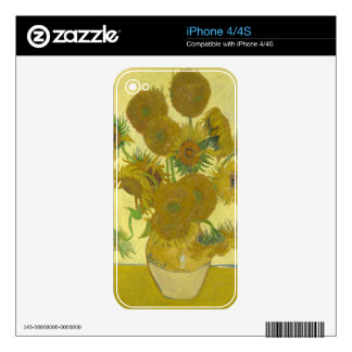 Sunflowers By Vincent Van Gogh Skin For The iPhone 4S