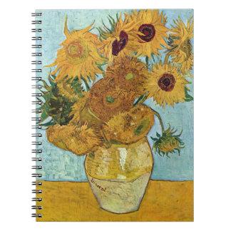 Sunflowers by Vincent Van Gogh Spiral Notebook