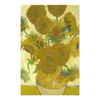 Sunflowers By Vincent Van Gogh Personalized Stationery