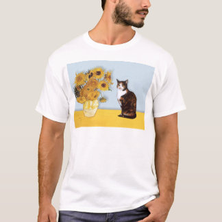 Sunflowers - Calico cat T-Shirt