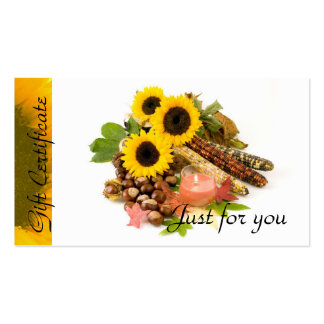 Sunflowers Candle Relaxation Spa Massage Therapy Business Card Templates