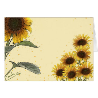 Sunflowers Card