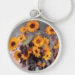 Sunflowers, Claude Monet Keychain