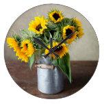 Sunflowers Clock