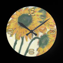 Sunflowers Clock Face wall clocks