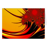 Sunflowers Colorful Abstract Fractal Art Card