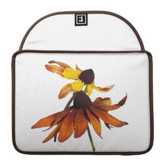 Sunflowers/Coneflowers Rickshaw Flap Sleeve Sleeves For MacBooks