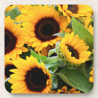 Sunflowers Cork Coaster Set