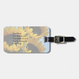 Sunflowers Customizable Text Travel Bag Tags
