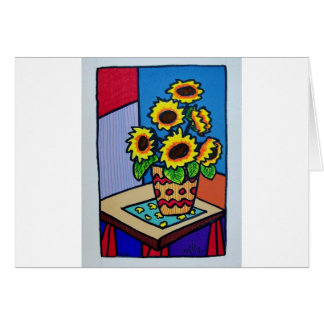 Sunflowers D 12 by Piliero Card