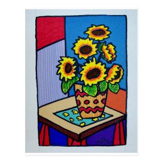 Sunflowers D 12 by Piliero Postcard