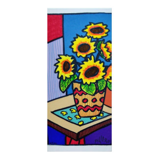 Sunflowers D 12 by Piliero Rack Card
