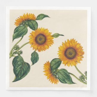 Sunflowers Dinner Size Paper Napkins