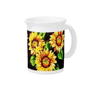 Sunflowers Drink Pitcher