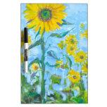 Sunflowers Dry Erase White Board