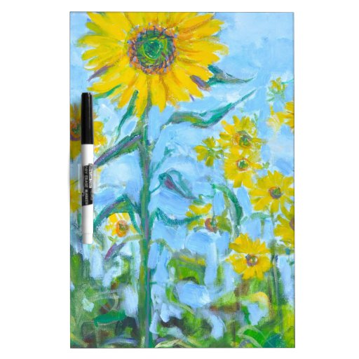Sunflowers Dry Erase White Board