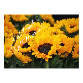 Sunflowers Eat Drink Get Married Wedding Invites