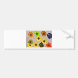 Sunflowers Edited In Photoshop Elements Bumper Sticker