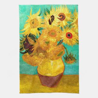 Sunflowers (F455) Van Gogh Fine Art Kitchen Towel