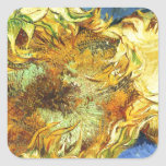 Sunflowers F. 375 ~ Van Gogh Square Sticker