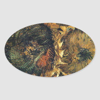 Sunflowers F. 376 ~ Van Gogh Oval Sticker