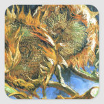 Sunflowers F. 376 ~ Van Gogh Square Sticker