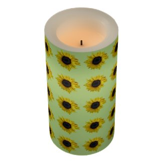 Sunflowers Flameless Candle