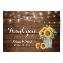 Sunflowers Floral Mason Jar Lights Thank You