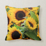 Sunflowers Floral Pillows at Zazzle
