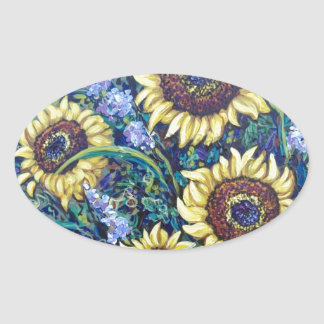 sunflowers floral stickers
