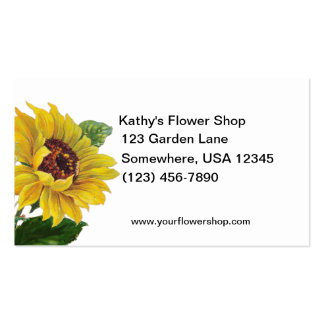 Sunflowers Florist Shop Double-Sided Standard Business Cards (Pack Of 100)