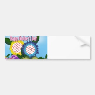 Sunflowers for Mom Dual Frame For Mother's Day Car Bumper Sticker