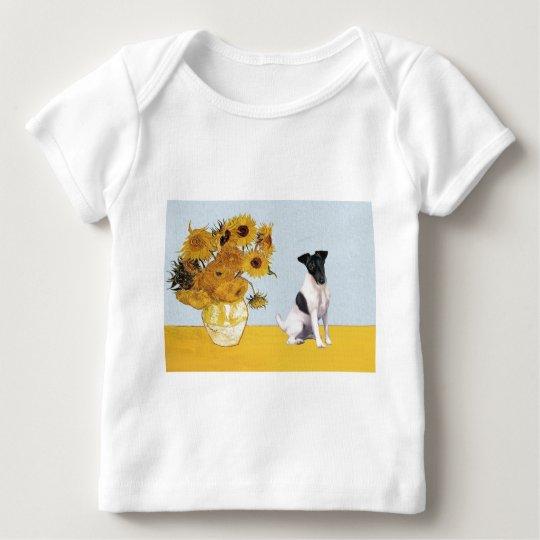 Sunflowers - Fox Terrier 1 Baby T-Shirt