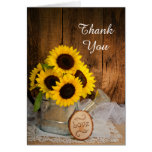 Sunflowers Garden Watering Can Wedding Thank You Cards