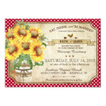 Sunflowers Gingham Check Country Picnic Wedding 5x7 Paper Invitation Card