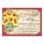 "Sunflowers Gingham Country Picnic Bridal Shower 5"" X 7"" Invitation Card"