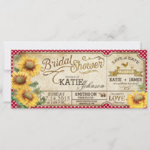 Sunflowers Gingham Country Picnic Bridal Shower Save The Date