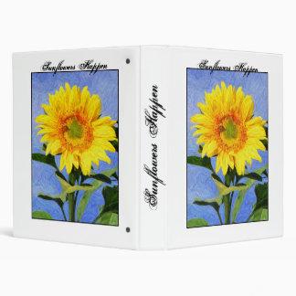 Sunflowers Happen Binder